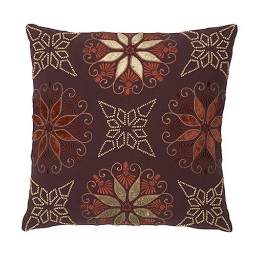 Modern Living Sausalito Wooden Beading Pillow, 16 By 16-Inch back-946528
