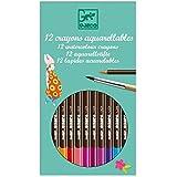 Djeco - 12 crayons aquarellables - Spécial Filles