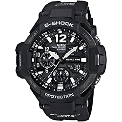 G-Shock Men's GA-1100 Gravitymaster Watch, Black/Silver, One Size
