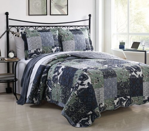Big Save! 3 Piece King Owen Quilt Set