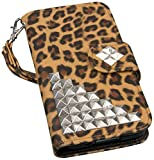EMPIRE Mpero Flex Flip Wallet Case for Samsung Galaxy S5 Mini and GS5 Mini - Studded Leopard