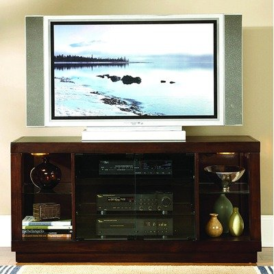 Cheap 8024 Series 54″ TV Stand in Espresso with Glass Doors (8024-T)