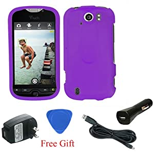 htc mytouch 4g slide purple rubber faceplate hard case cover micro usb cable usb. Black Bedroom Furniture Sets. Home Design Ideas