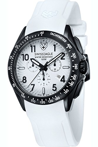 SWISS EAGLE SE-9061-02 - Reloj para hombres, correa de silicona