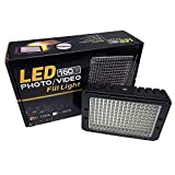 ePhotoInc Dimmable Ultra High Power Panel Digital DSLR Camera/Camcorder Video Light, LED Light PT160S
