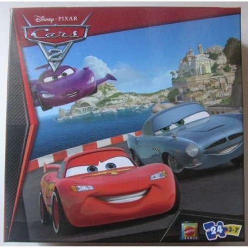 Disney / Pixar Cars 2 Race Team Mcqueen, Finn Mc Missile, 24 Piece Puzzle - 1