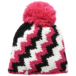 Spyder Women's Mosaic Hat, One Size, Flirt/Black/White