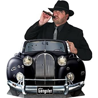 Gangster Car Photo Prop Party Accessory (1 count) (1/Pkg)