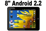 515yORTzMsL. SL160  New 8 inch MID 80003 Google Android 2.2 epad with Leather Case Touch Screen Froyo Tablet PC Supports 3G WIFI Camera
