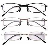 Eyekepper 3-Pack Stainless Steel Frame Cheap Reading Glasses