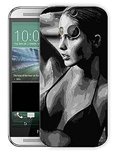 "Humor Gang Hot Girl In Bikini Printed Designer Mobile Back Cover For ""HTC One M8"" (3D, Matte, Premium Quality Snap On Case)"