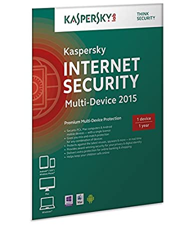 Kaspersky Internet Security 2015 Multi Device - 1 User - 1 Year Retail FFP Box UK (PC)