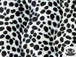 Velboa Faux / Fake Fur Dalmatian WHIT...