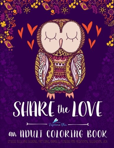 Read Online Adult Coloring Book Share The Love