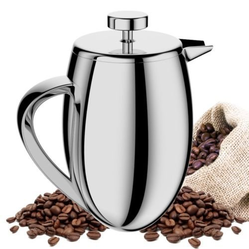 34oz French Press Coffee Maker Stainless Steel Double Wall Brushed Cafetiere Cup Made in USA! Highest Quality! Blowout Prices! Fast Ship by TAOindustry