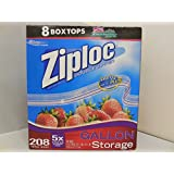 Ziploc Easy Open Tabs Storage Gallon Bags, 52 count(Pack of 4)