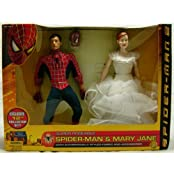"Spider Man 2 Wal Mart Exclusive 12"" Collector Doll Set With Spider Man & Mary Jane Dolls Action Figures 2 Pack..."
