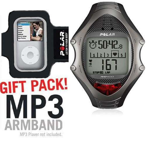 Cheap Polar RS400 Heart Rate Monitor with MP3 Armband (B003KJBB4C)