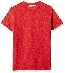 Fox Boys' T-Shirt  (Red Melange_18 years_337433)