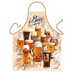 'Beer Garden' - Kitchen Apron - 100% Polyester