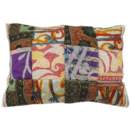 patchwork pillow sham kantha stitch decorazioni per la casa fatti a mano rivestimenti india regalo di 30
