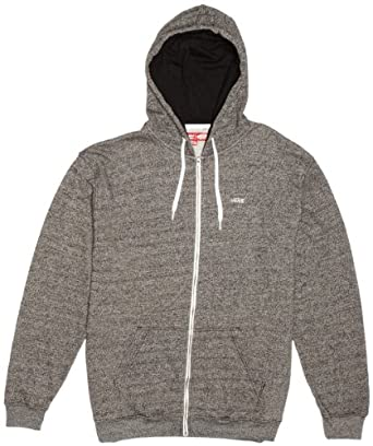 Vans Men's Core Basics Zip II Long Sleeve Hoodie, Black Heather, Small