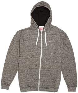 Vans Herren Hoodie M Core Basics Zip, Black Heather, S, VQXSBHH