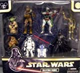 Star Wars DISNEY Exclusive 8 Figure Set - Boba Fett, Darth Vader, Yoda, Stormtrooper, R2-D2, Chewbacca, C-3PO and Wicket the Ewok