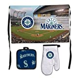 Seattle Mariners Premium BBQ Apron, Oven Mitt and Potholder Set at Amazon.com