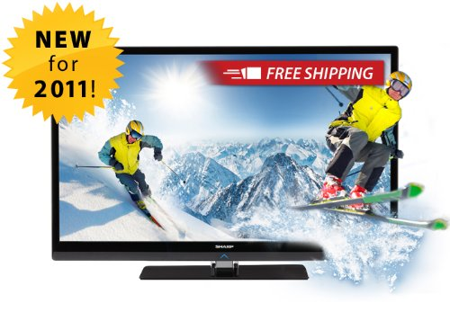 Sharp LC60LE835U Quattron 60-inch 1080p 240 Hz 3D LED-LCD HDTV, Black