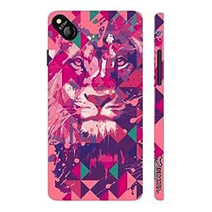 Micromax Bolt D303 Lion Art Light Pink designer mobile hard shell case by Enthopia