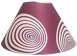 "RDC 10"" Round Maroon Cream Designer Lamp Shade for Table Lamp"