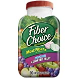 Fiber Choice Fiber Supplement, Sugar Free, Chewable Tablets, Assorted Fruit, 90 ct.
