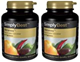 SimplySupplements Slimmex 2 Bottles, Total 60 CapsulesScientifically Proven Fat Burner Targeted at the Hips & Waist