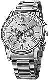 Akribos XXIV Silver-tone Alloy Mens Watch AK736SS