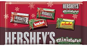 Hershey's Holiday Miniatures Assortment (Hershey's, Mr. Goodbar & Krackel), 11-Ounce Packages (Pack of 4)