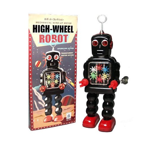 vintage-style-black-windup-tin-high-wheel-robot