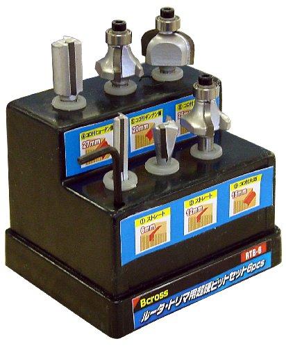 Bcross(ビクロス) ルータトリマ用超硬ビットセット 6pcs RTB-6