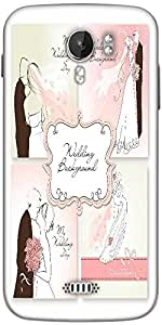 Snoogg set of beautiful vector wedding backgrounds easy to edit perfect for weddin Designer Protective Back Case Cover For Micromax A116