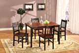 5 PC. Set Brown Fudge Wood Finish Dining Room Table And 4 Chairs