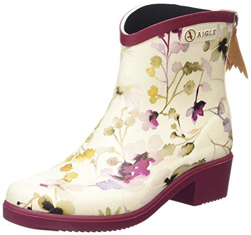 AigleMiss Juliette Bottillon Print - Stivali da pioggia alla caviglia Donna, Multicolore (Mehrfarbig (wildflower 2)), 36