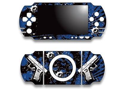 Sony PSP Slim Skin Decal Sticker - Glock Blue