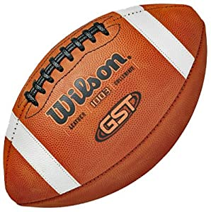 Wilson NCAA 1003 GST Leather Game Footballs TAN LEATHER OFFICIAL (SET OF 6) by Wilson