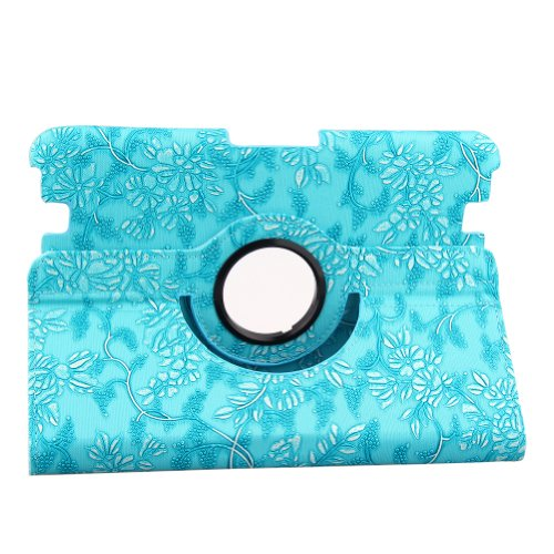 """Generic All-New Pu Leather Luxury Stylish Slim-Fit Ultra Lightweight 360 Degrees Rotating Swivel Stand Modern Art Embossed Flower Pattern Design Series Smart Cover Case Skin Support Multi-Angle Viewing For Amazon Kindle Fire Hd 8.9"""" Tablet (Only For 2012"""