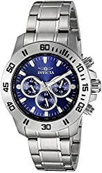 Invicta Men's 21482 Specialty Analog Display Swiss Quartz Silver Watch
