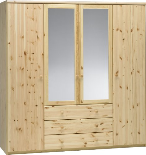 Steens-29911219-Kleiderschrank-Axel-200-x-193-x-62-cm-Kiefer-massiv-natur-lackiert