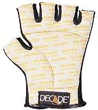 Decade 49231 Anti-Vibration Spandex Half-Finger Left Hand Glove Liner with Gfom, Black, XSmall-Medium