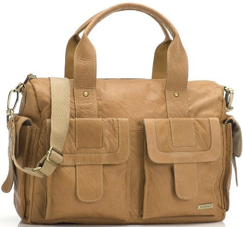 Storksak Sofia Leather Diaper Bag - Tan - 1