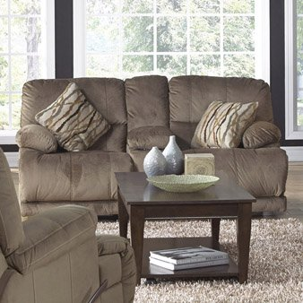 Catnapper Riley Polyester Reclining Loveseat in Charcoal