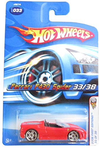 2006 First Editions -#33 Ferrari F430 Spider Red #2006-33 Collectible Collector Car Mattel Hot Wheels - 1